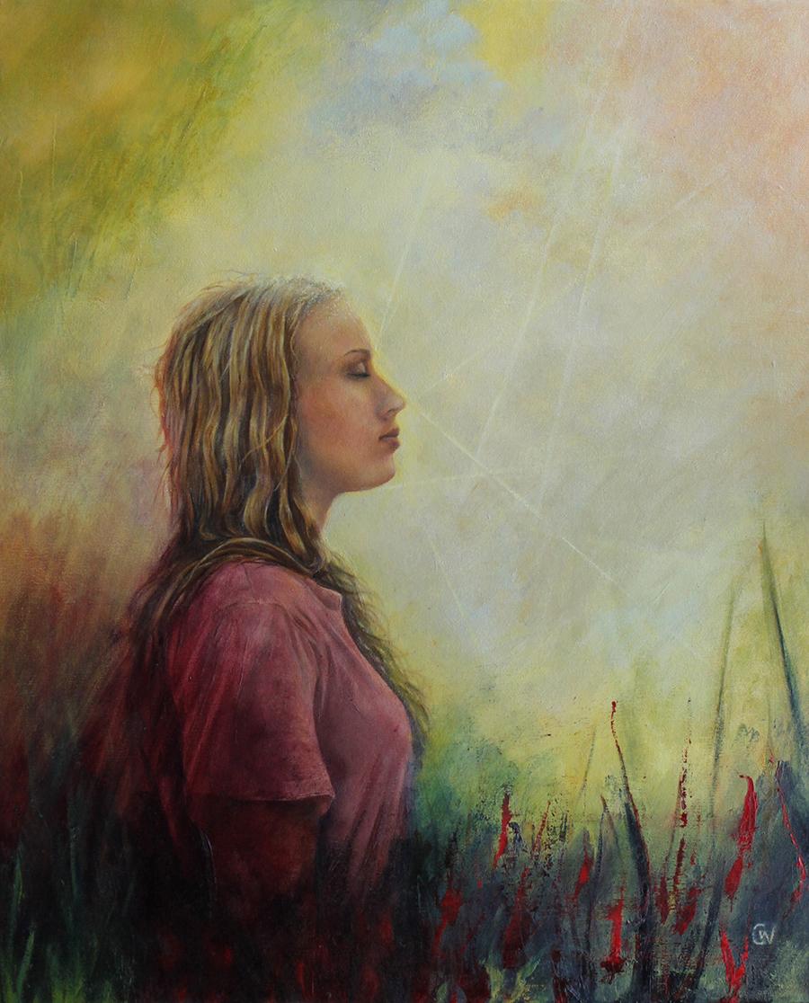Walking in Sunshine painting